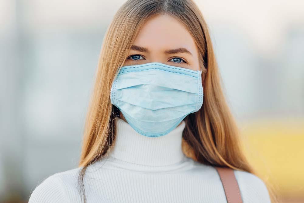 huidirritatie door mondmasker